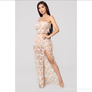 Fashion Nova Diamond Shine Sequin Set